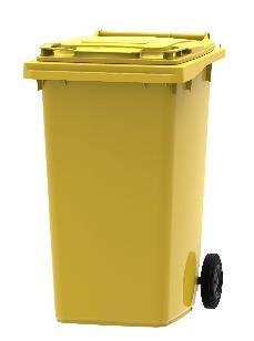 Plastová popelnice 240 litrů - separovaný sběh plastových obalů