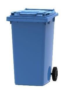 Plastová popelnice 240 litrů - separovaný sběh papírových obalů