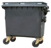 Plastový kontejner 660 litrů - směsný komunální odpad