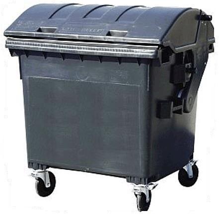 Plastový kontejner 1100 litrů - směsný komunální odpad