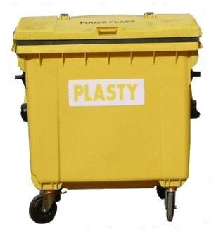 Plastový kontejner 1100 litrů - separovaný sběr plastových obalů
